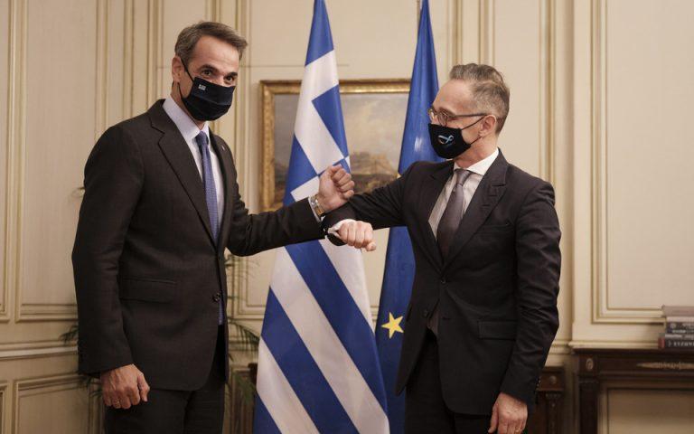 (Ξένη Δημοσίευση)  Ο πρωθυπουργός Κυριάκος Μητσοτάκης συναντήθηκε με τον υπουργό Εξωτερικών της Γερμανίας, Heiko Maas, την Τρίτη 13 Οκτωβρίου 2020, στο Μέγαρο Μαξίμου ΑΠΕ-ΜΠΕ/ΓΡΑΦΕΙΟ ΤΥΠΟΥ ΠΡΩΘΥΠΟΥΡΓΟΥ/ΔΗΜΗΤΡΗΣ  ΠΑΠΑΜΗΤΣΟΣ