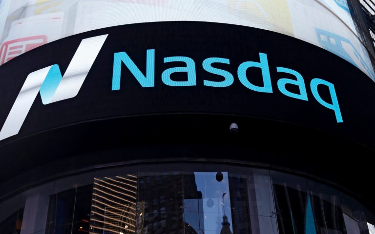 FILE PHOTO: A view of the exterior of the Nasdaq market site in the Manhattan borough of New York City, U.S., October 24, 2016.  REUTERS/Shannon Stapleton/File Photo/File Photo