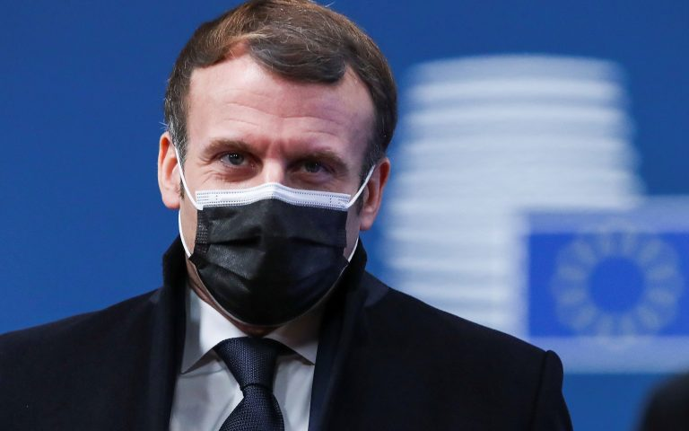 France's President Emmanuel Macron arrives to attend a face-to-face EU summit amid the coronavirus disease (COVID-19) lockdown in Brussels, Belgium December 10, 2020. REUTERS/Yves Herman/Pool
