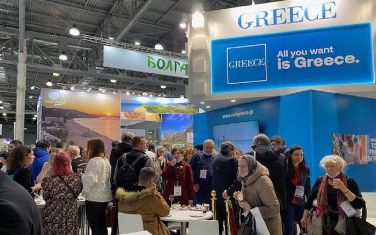 Μεγάλη η προσέλευση των επισκεπτών της Έκθεσης ΜΙΤΤ 2021 στο περίπτερο του ΕΟΤ.