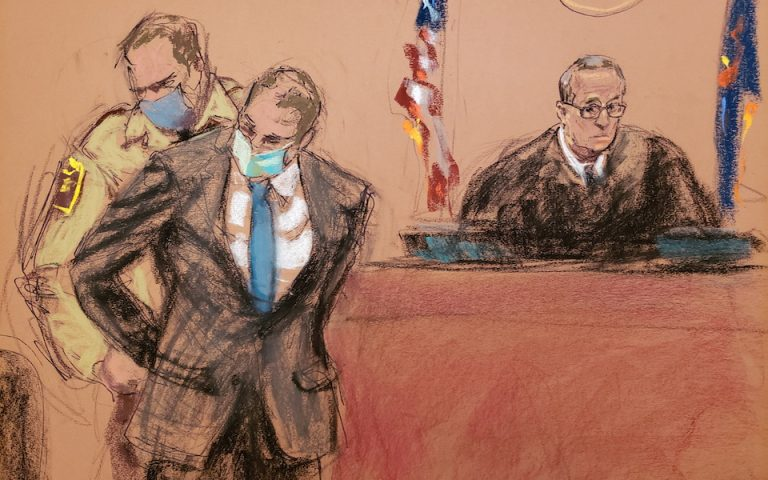 REUTERS/Jane Rosenberg (σκίτσο από τη δίκη)