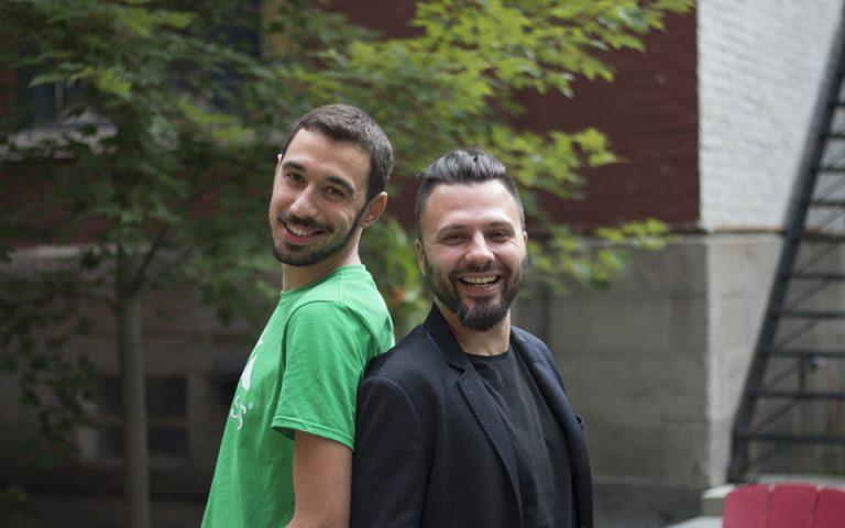 Οι ιδρυτές της Intelistyle. Από αριστερά Μιχάλης Μιχελής, Κώστας Κουκοβάρας