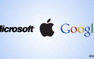 Microsoft, Apple, Google